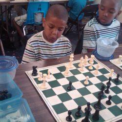 Preston playing chess